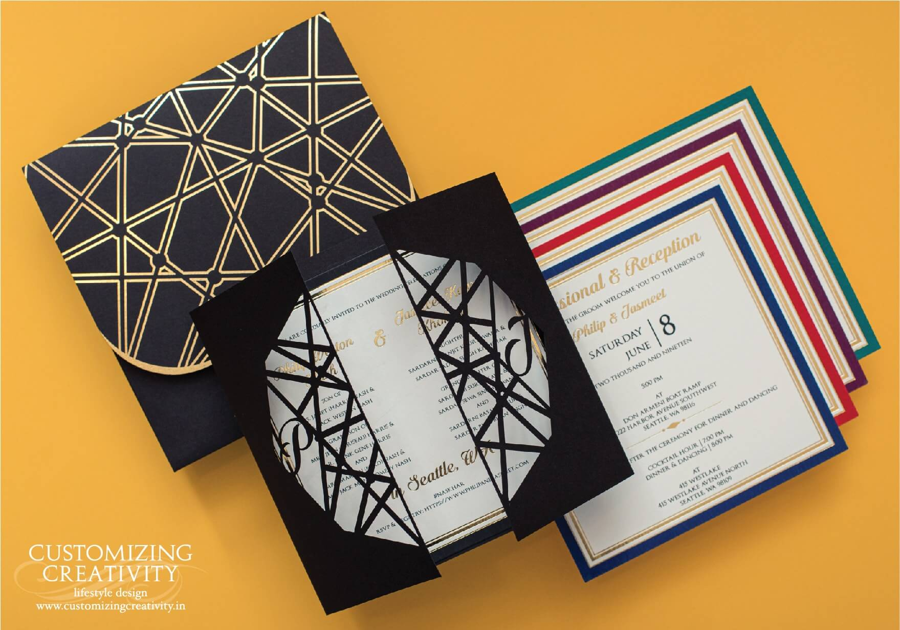 Customized Cards And Unique Wedding Invitations Customizing Creativity