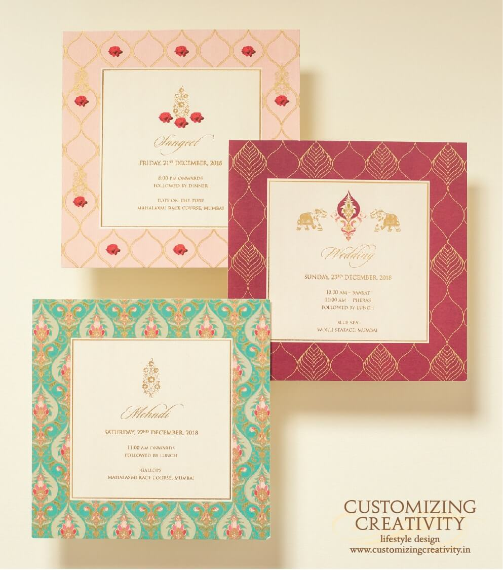 customized cards and unique wedding invitations