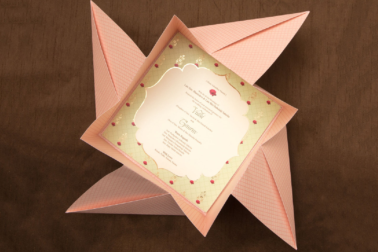 Creative Indian Wedding Invitations - Bespoke Invitation